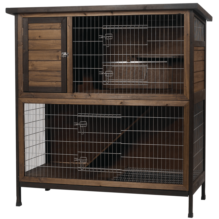 Kaytee Rabbit Hutch 2 Story 48 Inch Wide