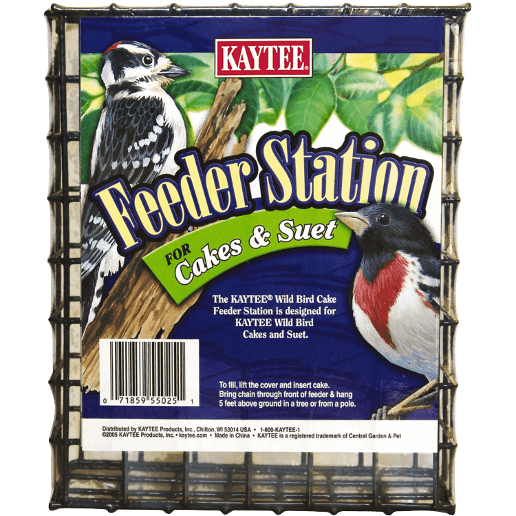Cakes & Suet Feeder Station: Suet Feeders, Seed Cakes, and Mealworms ...