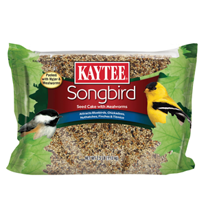 Kaytee Songbird Seed Cake with Mealworms