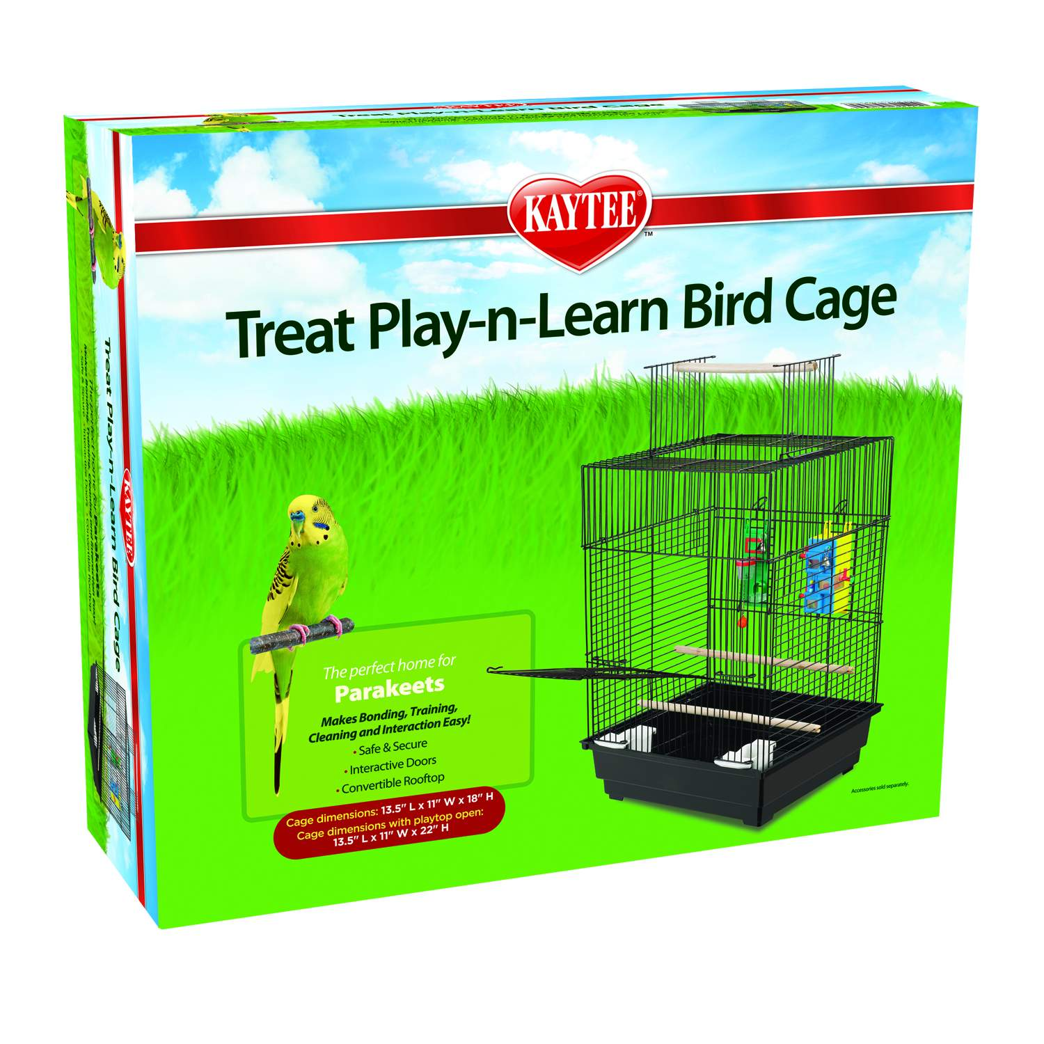 Kaytee Treat Play-n-Learn Parakeet Cage