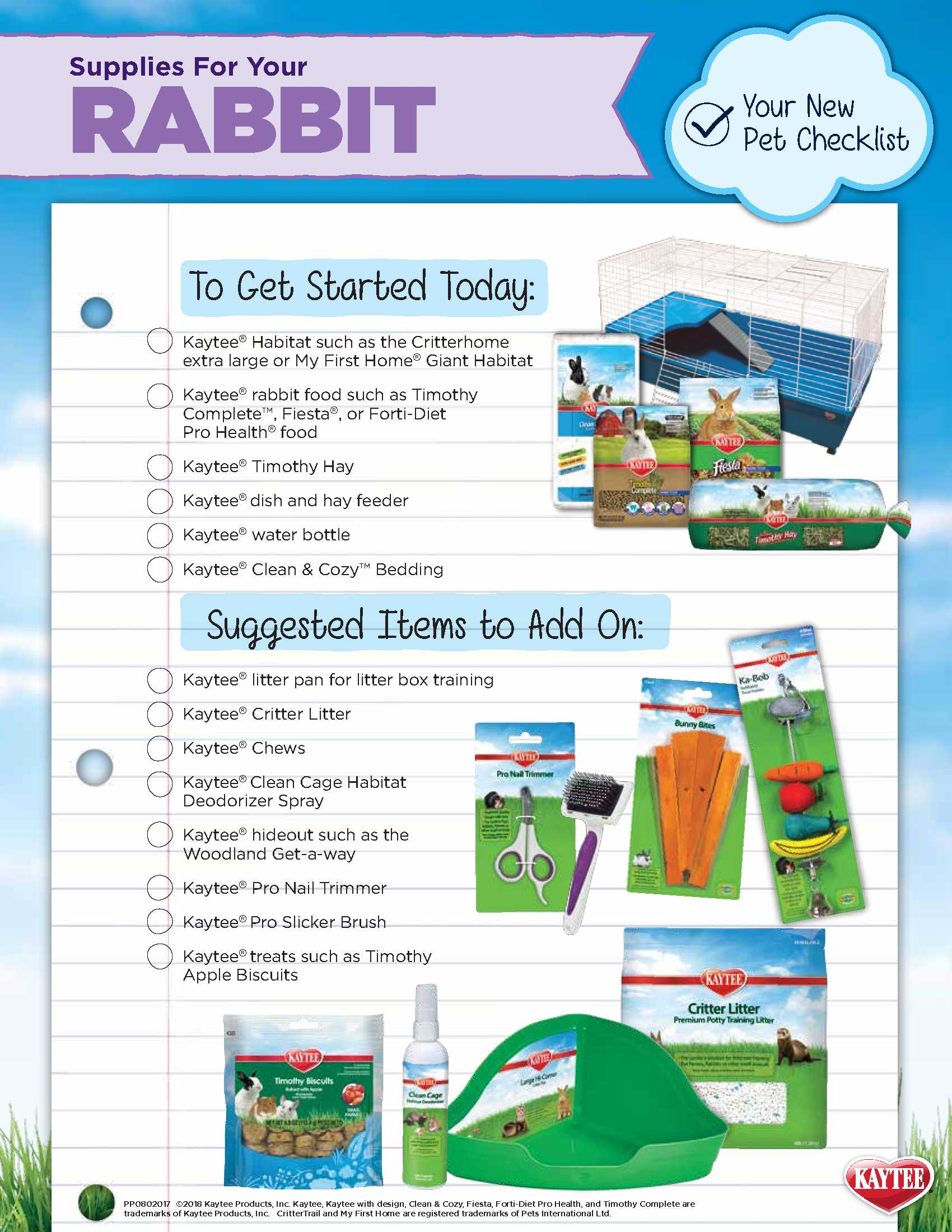 Rabbit Care Checklist