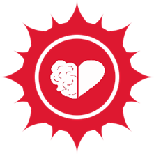 Red and White Heart Icon